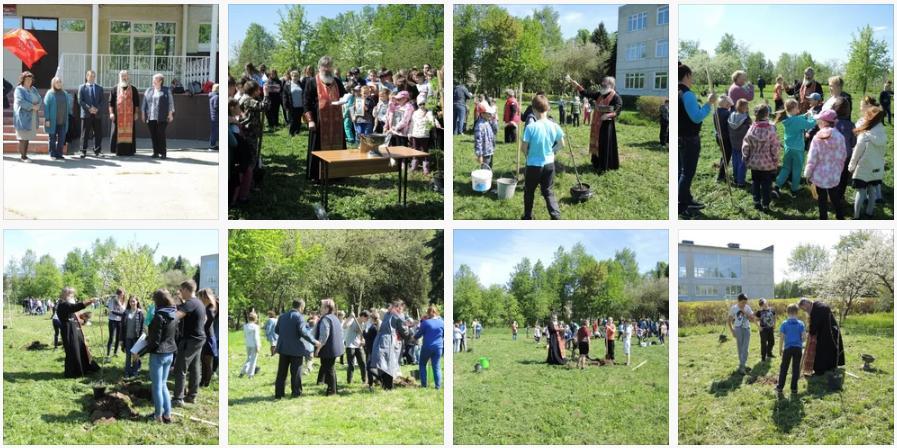 11 мая на территории Воскресенского благочиния в рамках акции Лес Победы, на территории МОУ Ратчинская СОШ школьниками и учителями был высажен яблоневый сад - на школьном участке было высажено 49 саженцев разных сортов яблонь