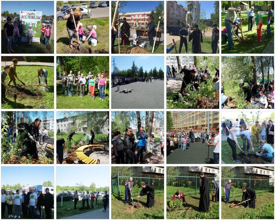 В субботу 12 мая на территории всей Московской области прошла ежегодная эколого-патриотическая акция Лес Победы. Приходы Раменского благочиния приняли активное участие в этом мероприятии